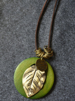Leaf Metal Necklace