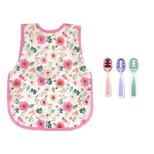 "Foodie Judy's ""Three Spoon Circus"" Bapron Set - Bubblegum Pink Floral"