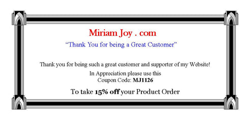 Take 15% Off your Product Purchase - Until 1-28-13