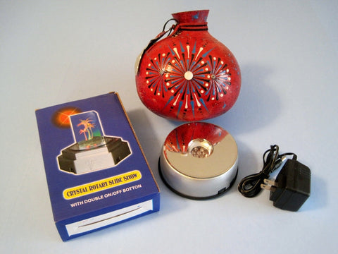 Rotating Electric or Battery Operated Mirrored Turntable