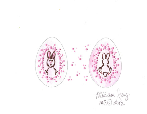 Free Bunny Easter Egg pattern