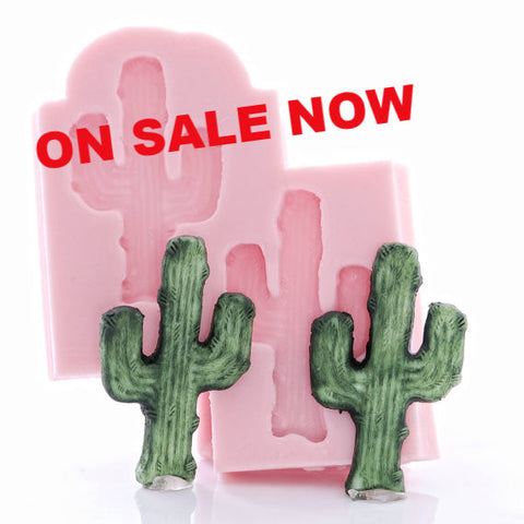 "NEW ""Twin Cactus"" Silicone Mold"