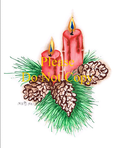 Candle & Pinecones Pattern