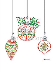 Christmas Bulb Trio Pattern