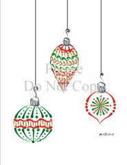 Christmas Bulb Trio #2 Pattern