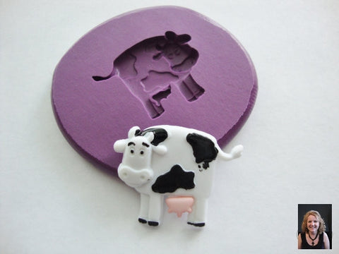 "NEW - ""HAPPY COW"" Silicone Mold"