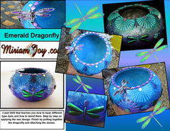 """NEW"" DVD Class from Miriam Joy ~ 'Emerald Dragonfly Gourd'"