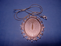 """Classic Frame Pendant"" with Chain Set #4"