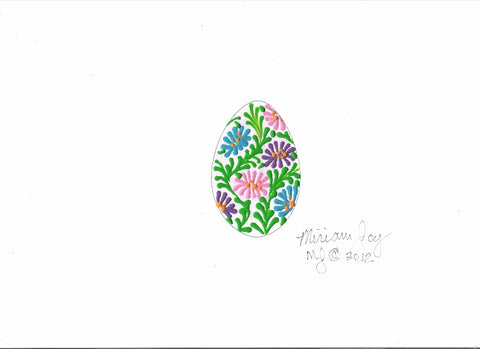 Free Jungle Flower Easter Egg pattern