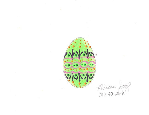 Free Green Easter Egg pattern