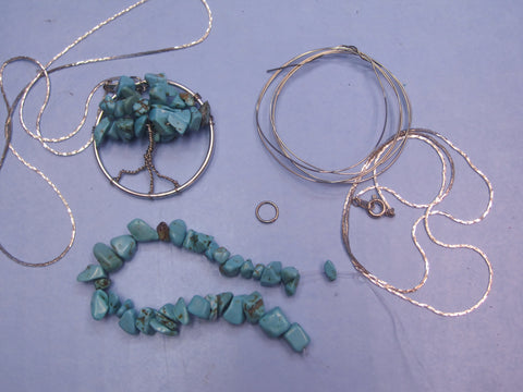 Wire Gemstone Tree Pendant Kit #1
