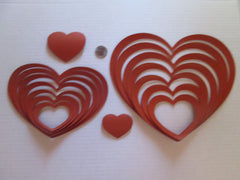 "LARGE & SMALL Hearts Craft Templates - ""ON LIMITED TIM SPECIAL"""