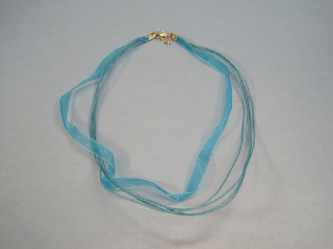 "Ribbon Cording Necklace ""Elegant""  #1"