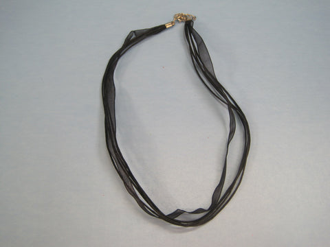 "Ribbon Cording Necklace ""Elegant"" #2"