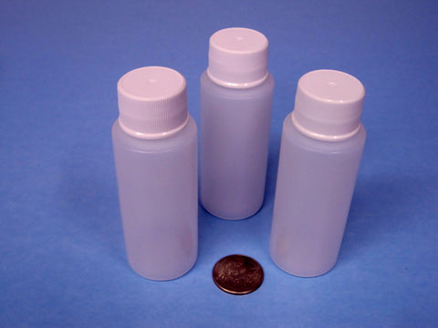 2 oz. Plastic Bottle - Great for Dyes or other Liquids - (3) Bottles for $1.29