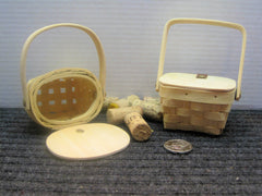 Spring Time Wooden Basket