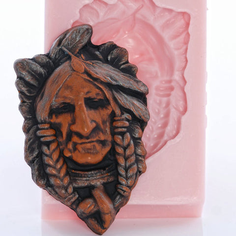 "NEW ""INDIAN CHIEF"" Silicone Mold"