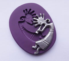 Kokopelli w/ Feather Head - Silicone Mold