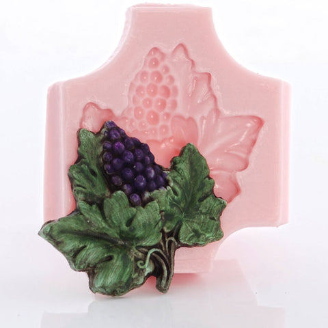 "NEW ""Grapes & Leafs"" Silicone Mold"