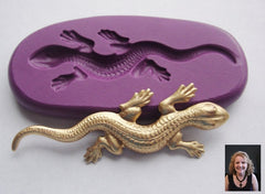 """Leaping Lizard"" Silicone Mold - Fun and Easy to Use!"
