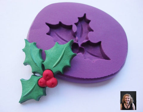 """Holiday Holly"" Silicone Mold"