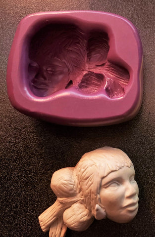 Small Navajo Girl Silicone Mold - from Miriam Joy