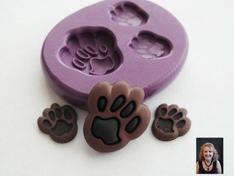 """PAW PRINTS"" Silicone Mold"