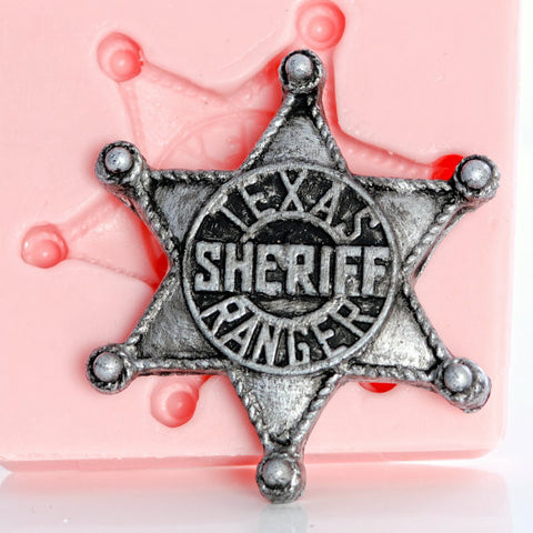 "NEW ""Sheriff in Town"" Badge Silicone Mold"