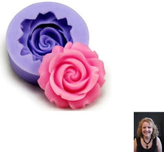 """Large"" Silicone Rose Mold"