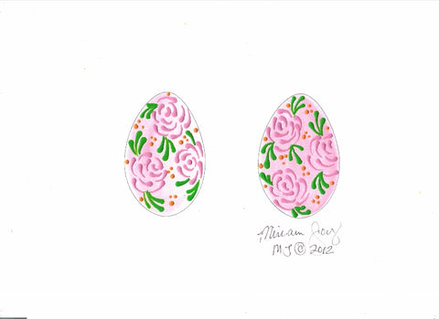Free Rose Easter Egg pattern