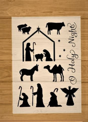Nativity Scene Stencil - Holy! Holy!