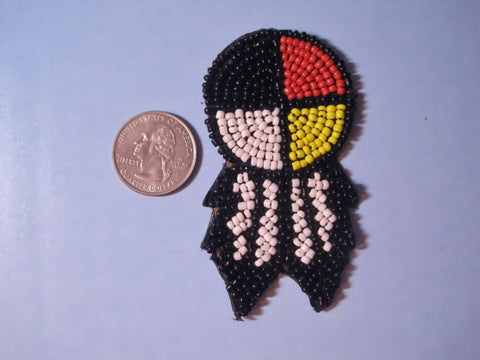 Beaded Warrior Shield Embellishment #2
