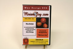 Wax Technique Video DVD by Miriam Joy