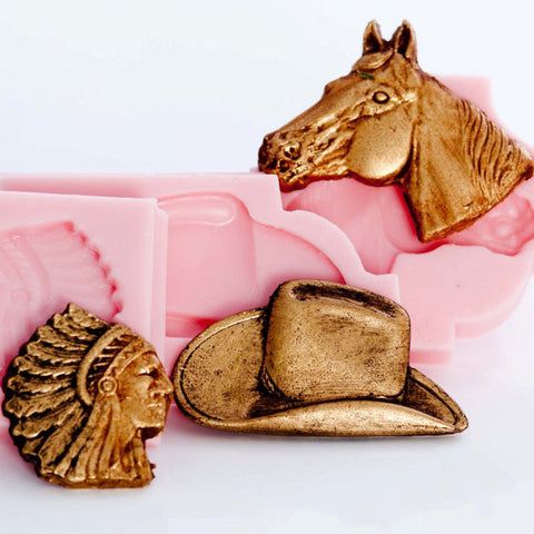 """Western Theme Combo Molds"" - (3) Molds Package!"
