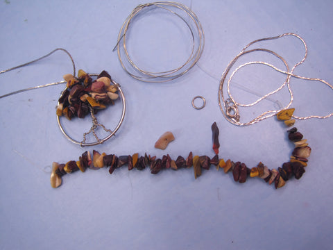 Wire Gemstone Tree Pendant Kit #2
