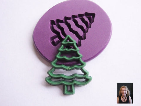"NEW ""Christmas Pine Tree"" Silicone Mold"