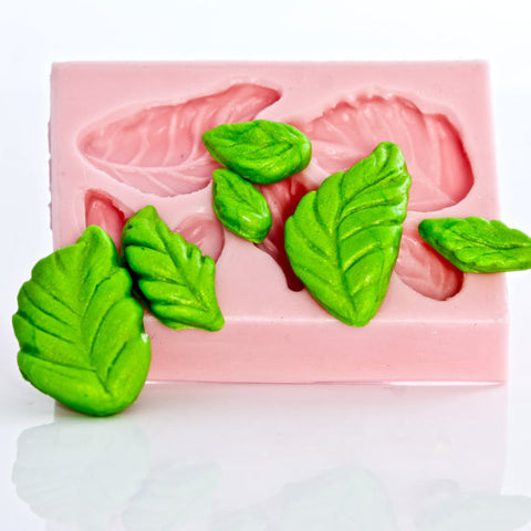 """New"" Six Rose Leaf's Silicone Mold"