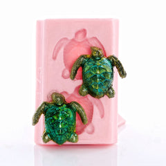 """NEW""  Two-Sea Turtle Silicone Mold"