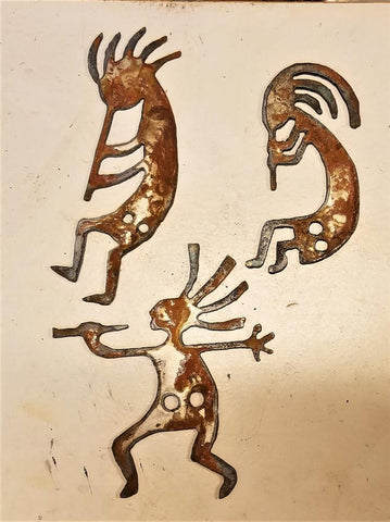Kokopellis (3) Pack - Metal Embellishment ~ Beautiful