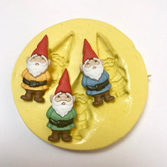 """3"" Happy Gnomes Silicone Mold"