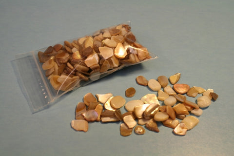 Tan Colored Shell Pieces (2 oz. package)