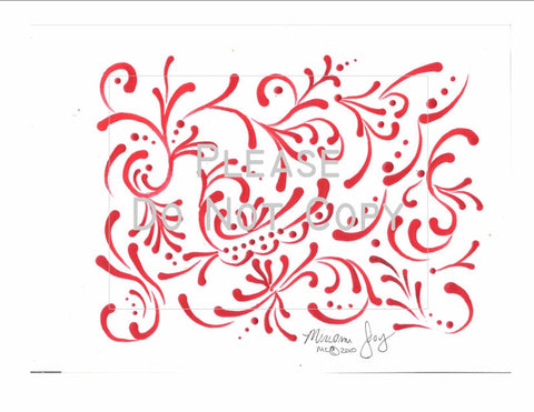 Red Swirls pattern