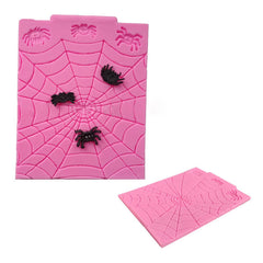 Scary Spider Web and Spiders Silicone Mold - Halloween Time!