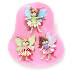 3 WHIMSICAL FAIRIES  Silicone Flat Mold