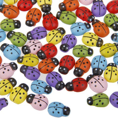 Colorful Wooden Lady Bugs - Great Color!