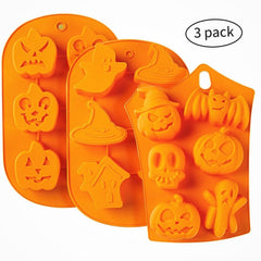 Silicone Halloween  Molds - (3) Pack