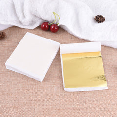 100-Sheets Gold-Leafing-Paper-Gilding-Art-Crafting