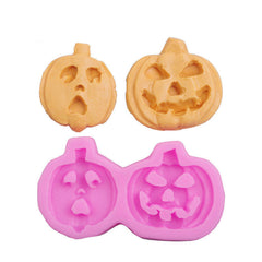 Pumpkin Face Silicone Mold