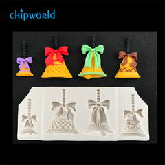 3-D Christmas Bells Silicone Mold - Awesome!!!