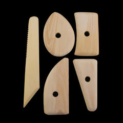 Deluxe Wooden Clay Tools / Potters Ribs